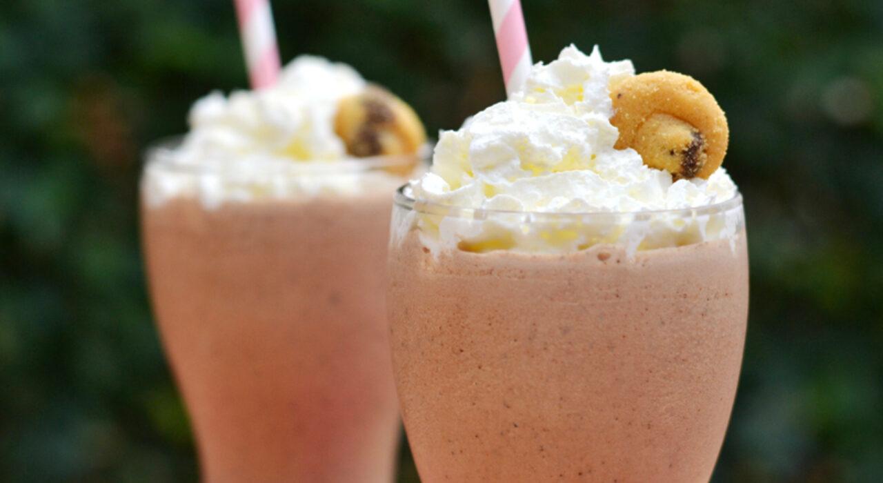Milkshake de chocolate y galletas