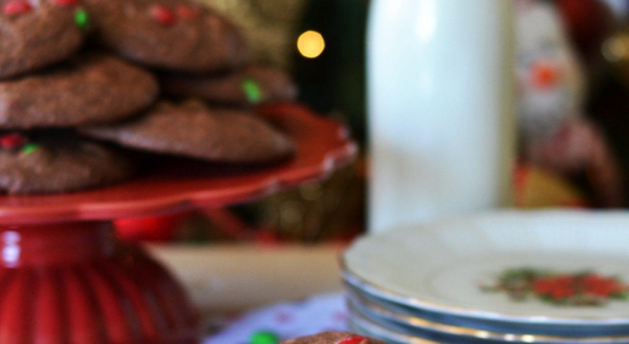 Galletas de brownie y M&M's (usando mezcla de cajita!)