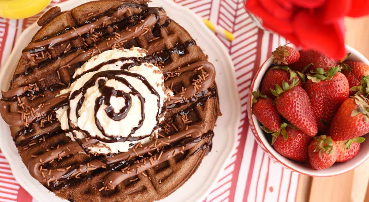 Waffles de brownies
