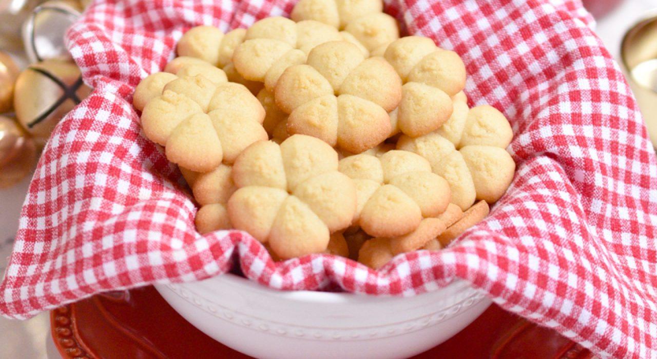Galletas de mantequilla o Spritz Cookies