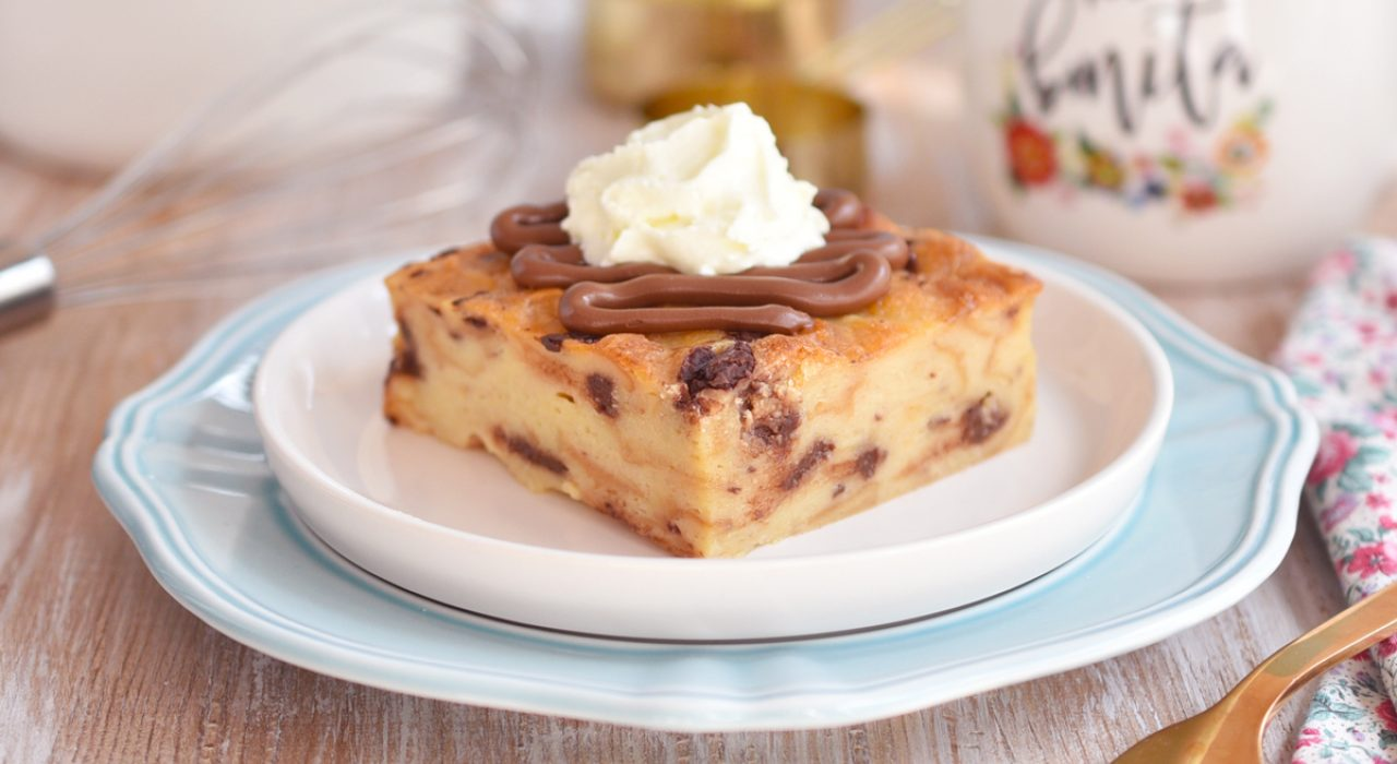 Torta o budín de pan con chocolate