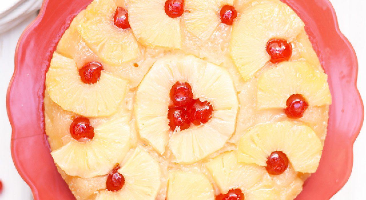 Una receta fácil y riquísima de torta de piña!