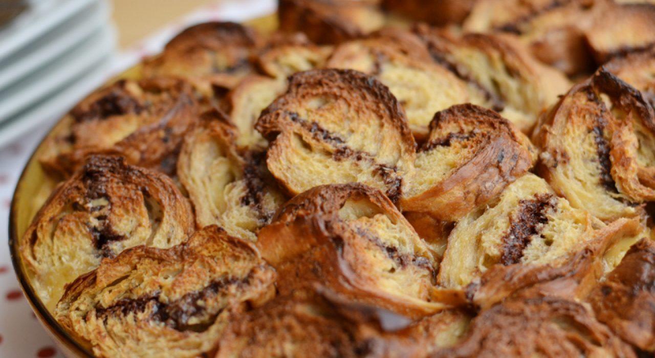 Torta de croissants y Nutella