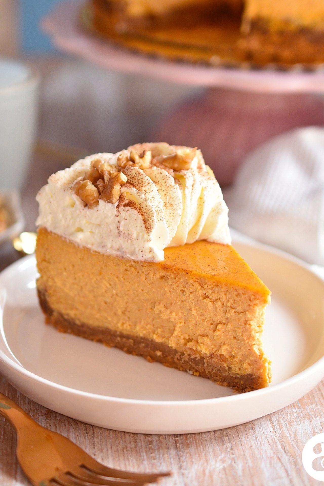 Pumpkin cheesecake o cheesecake de calabaza