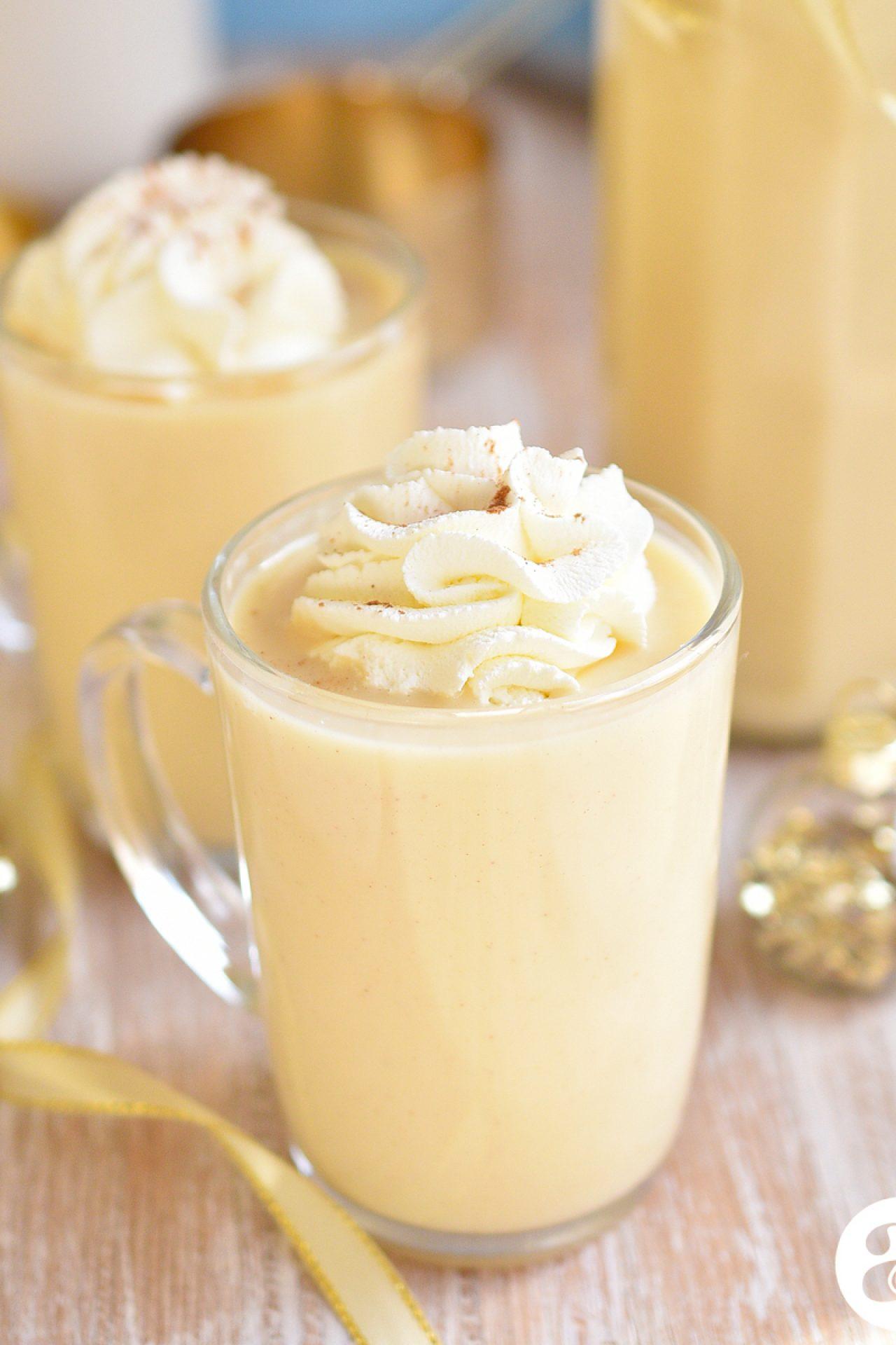Ponche crema navideño (receta hecha desde cero, sin flan)