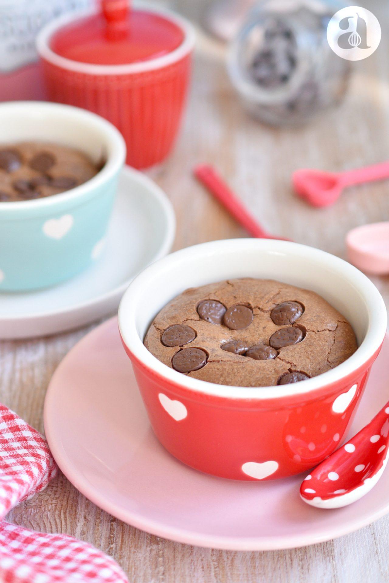 Volcán de Brownie (para 2 porciones) con Imprimibles Gratis para San Valentín