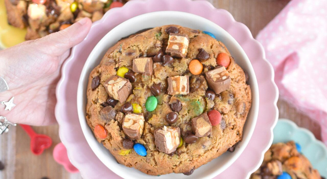 Receta para hacer 4 maxi galletas gigantes