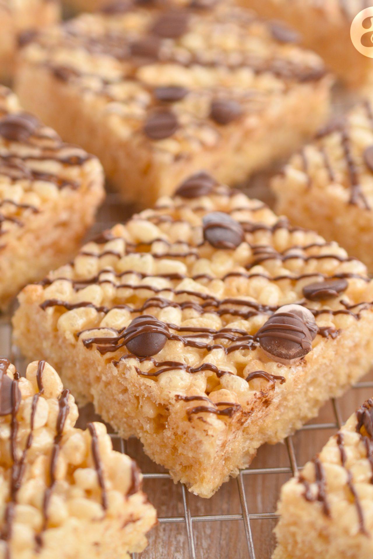 Rice Krispie Treats o Cuadritos de arroz inflado y malvaviscos