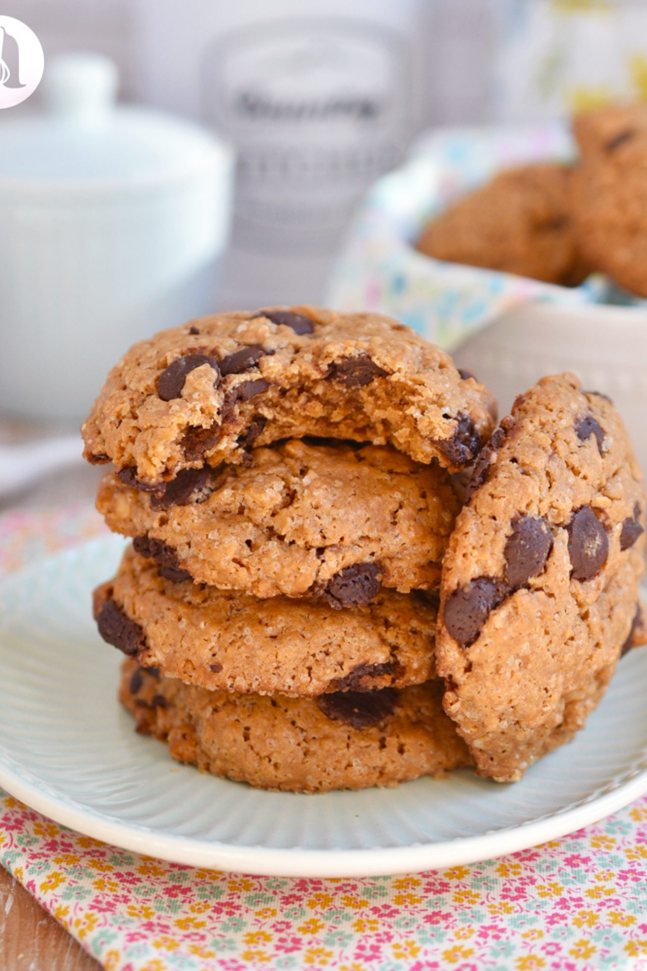 Galletas de avena y peanut butter, sin gluten y sin lactosa