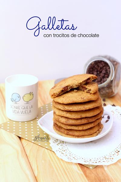 Galletas con trocitos de chocolate - Anna's Pastelería - www.annaspasteleria.com