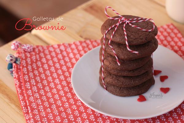 Galletas de brownie (con mezcla de cajita!) - Anna's Pastelería - www.annaspasteleria.com