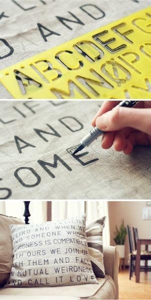 Cojines con letras www.annaspasteleria.com