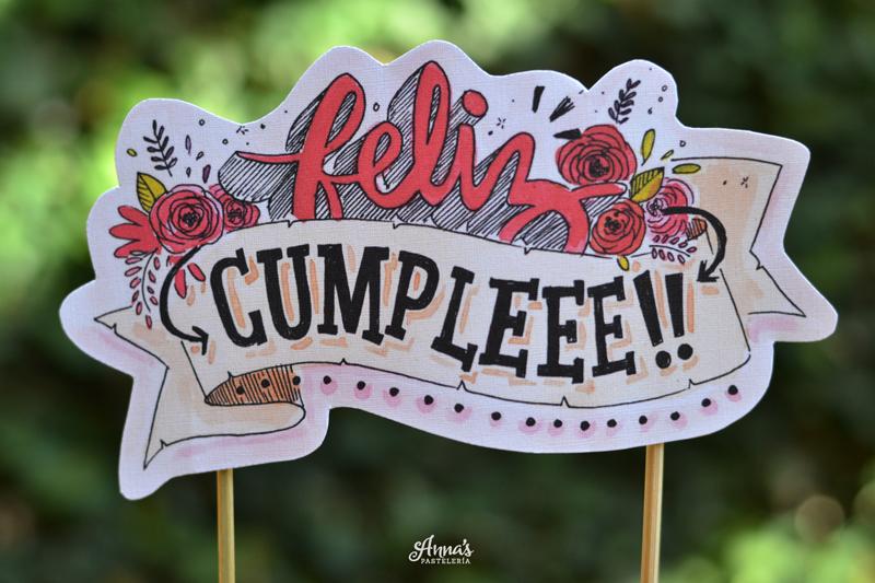Topper imprimible gratis para cumpleaños del blog www.annaspasteleria.com