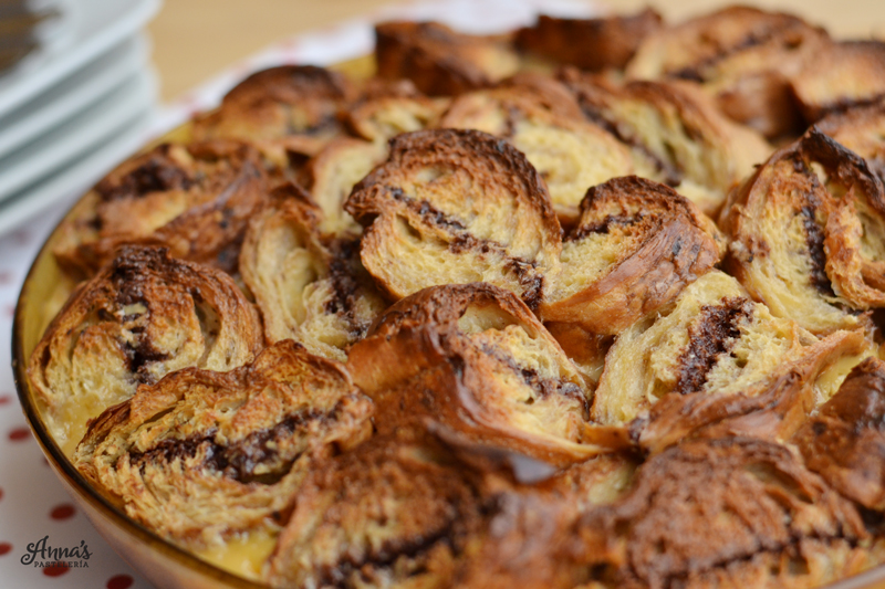 Torta de croissants y Nutella www.annaspasteleria.com