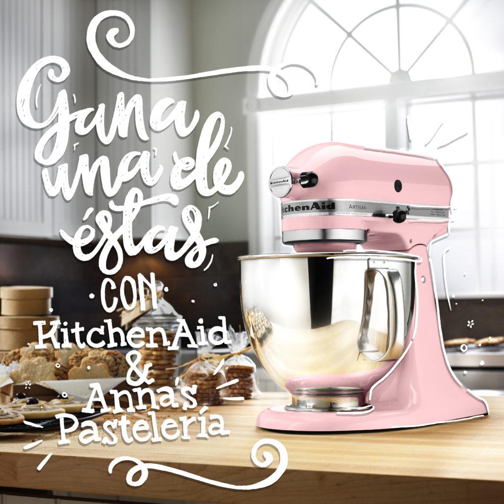 Sorteo de una KitchenAid rosa por Anaisa Lopez de Annas Pasteleria - Pink KitchenAid giveaway in www.annaspasteleria.com